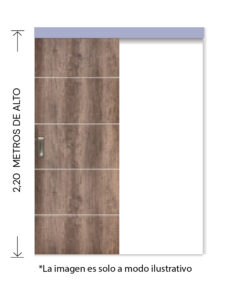 rinder corredera externa tekstura h nogal 2,20