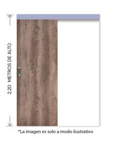 rinder corredera externa tekstura lisa nogal 2,20