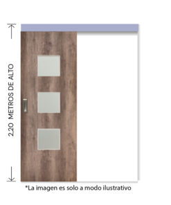 rinder corredera externa tekstura q nogal 2,2